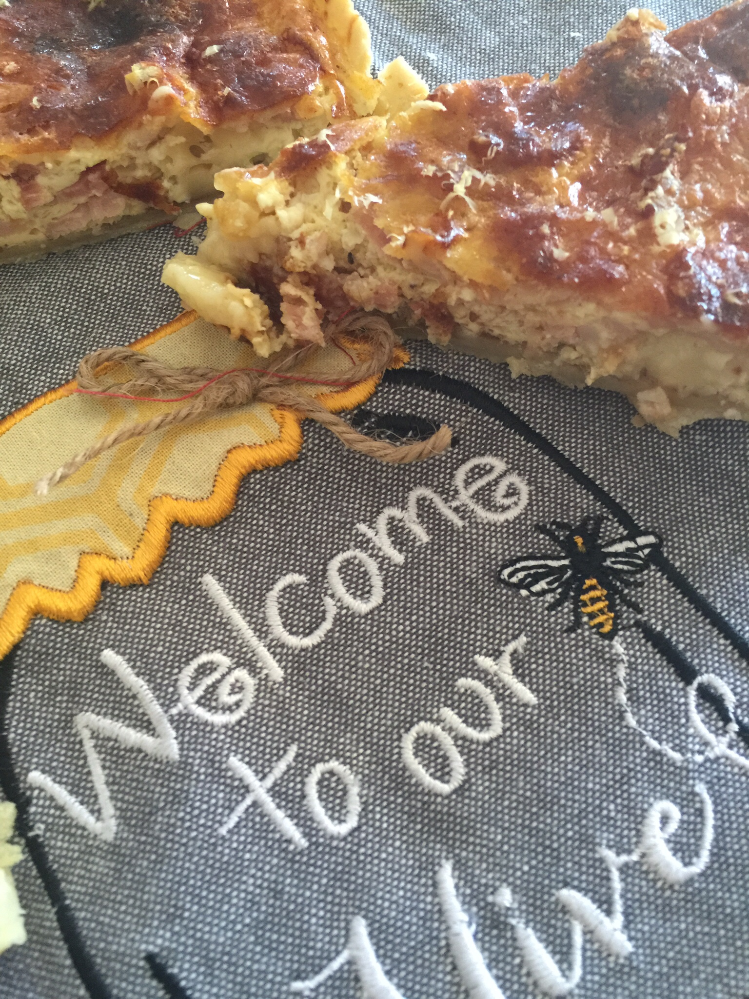Brie and smoked bacon quiche