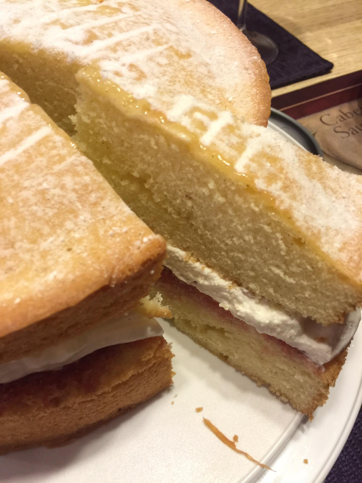 Victoria sponge sandwich