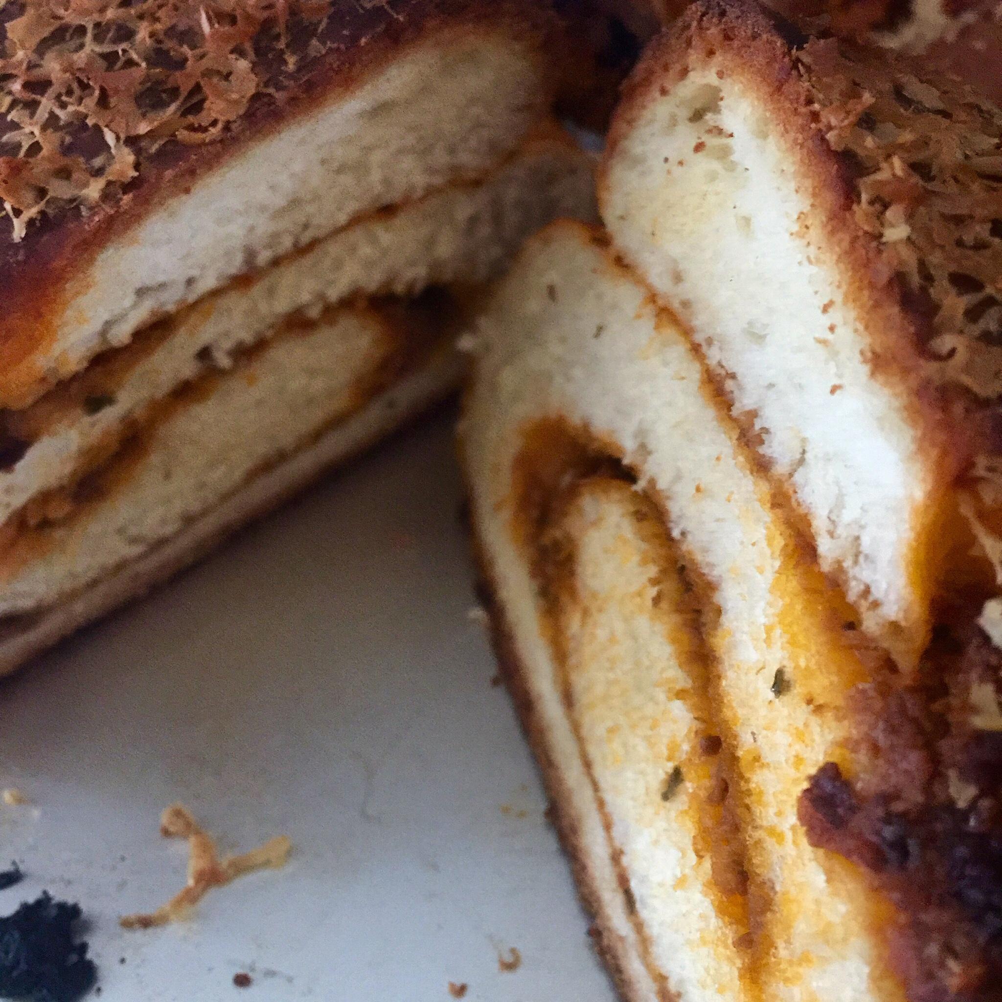 Red pesto swirl milk bread